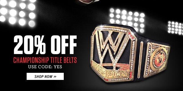 Take 20% off Championship Title Belts!