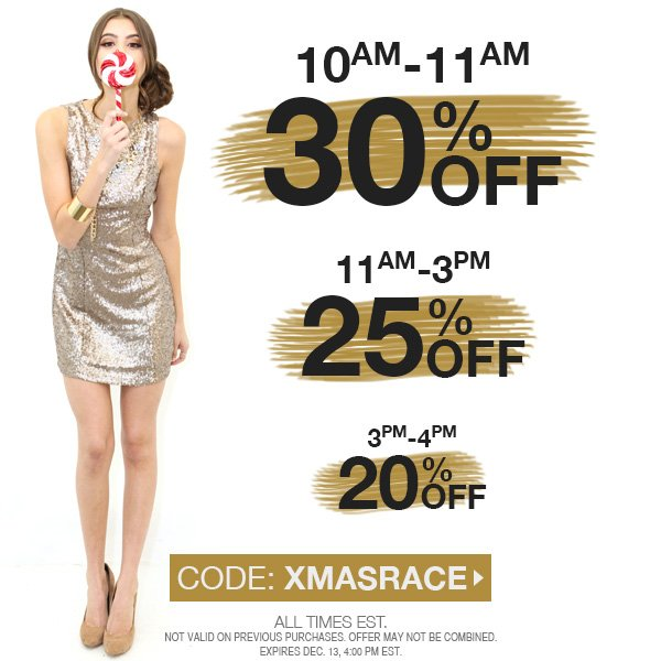 Take up to 30% off! Act fast!