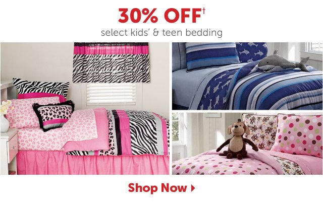 30% OFF+ select kids' & teen bedding - Shop Now