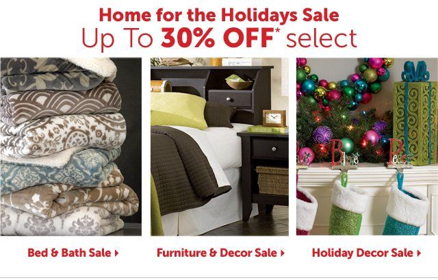 Home for the Holidays Sale - up to 30% OFF* select