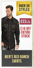 Mens Red Ranch Shirts