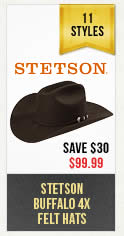 Mens Stetson Buffalo Hats