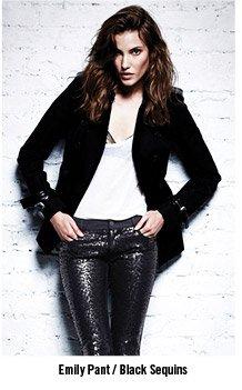 Emily Pant / Black Sequins