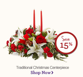 Traditional Christmas Centerpiece - Save 15%  Shop Now