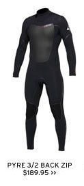 Pyre back zip wetsuits