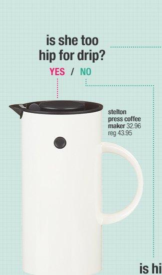 stelton press coffee maker 32.96 reg  43.95