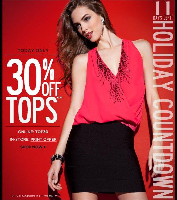 30% Off Tops - Online: TOP30
