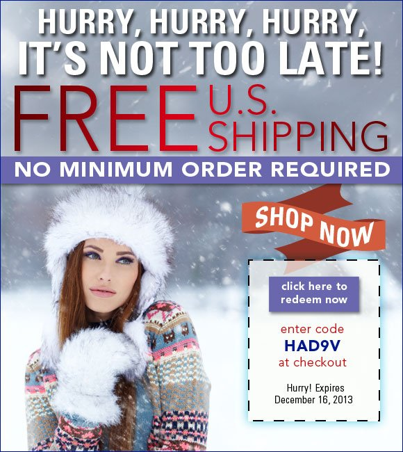 Free Shipping* on all designer beauty, No Minimum