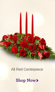 All Red Centerpiece Shop Now