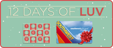 12 Days of LUV: Chance to Win a $1,000 southwestgiftcard