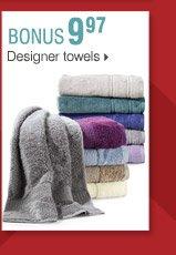 Shop OVER 160 BONUS Buys! 9.97 Designer towels