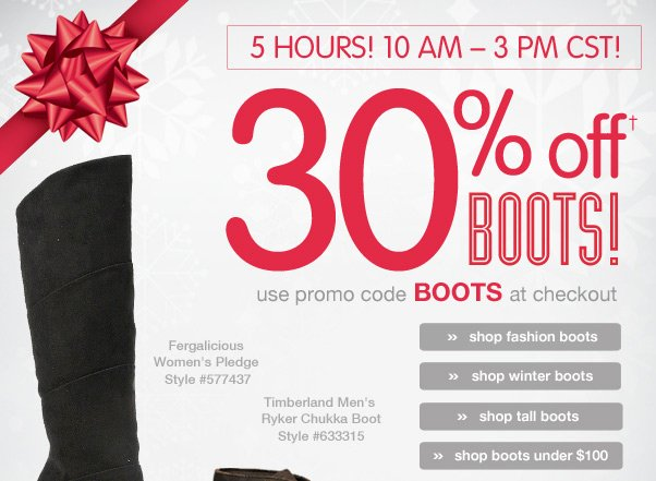 We're Giving Regular Prices The Boot…