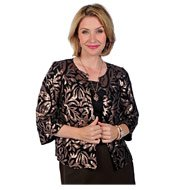 Joan Rivers Sequin Crop Jacket