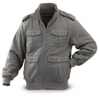 Sportier® Wool-blend Bomber Jacket
