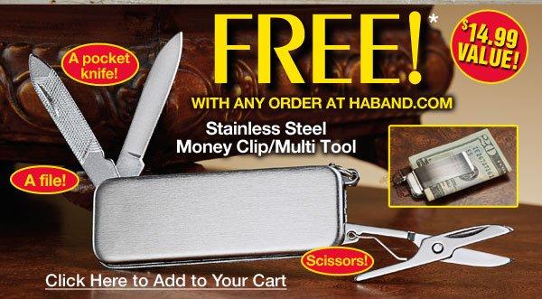 FREE* Money Clip - Multi Tool