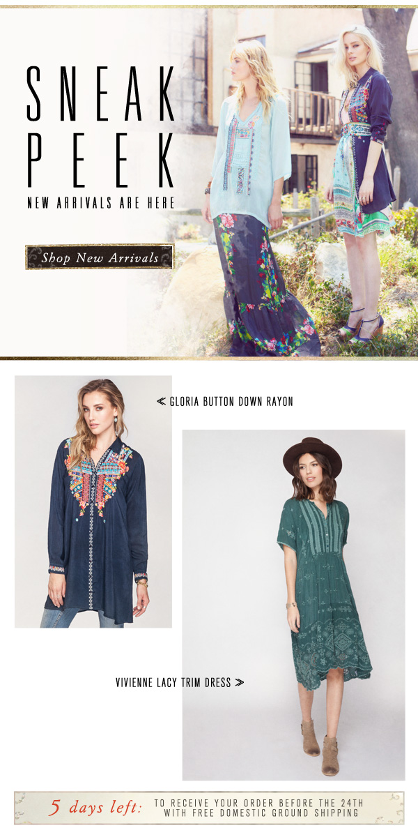 New Arrivals are here! Shop our Resort Collection!
