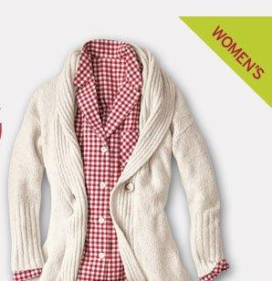 Shop Women's Ribbed Sleep Cardigan