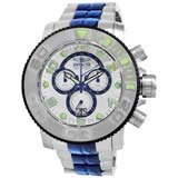 Invicta 10765 Men's Sea Hunter Mother of Pearl Dial Steel Bracelet Chronograph Dive Watch