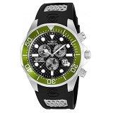 Invicta 12572 Men's Grand Diver Chronograph Black Dial Rubber Strap Dive Watch