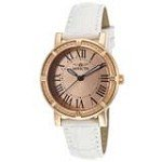 Invicta 14893 Women's Wildflower Rose Gold Dial Rose Gold Steel Interchangeable White Leather Strap Watch
