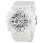 Casio BA110-7A3 Women's Baby-G Analog-Digital White Resin Strap Watch