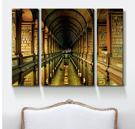 GALLERY OF THE OLD LIBRARY, TRINITY COLLEGE, DUBLIN, COUNTY DUBLIN, EIRE (IRELAND) By: Bruno Barbier
