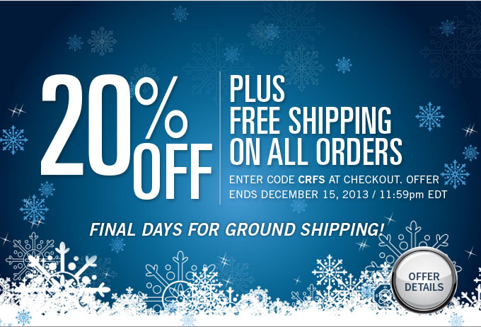 13% off plus Free Shipping