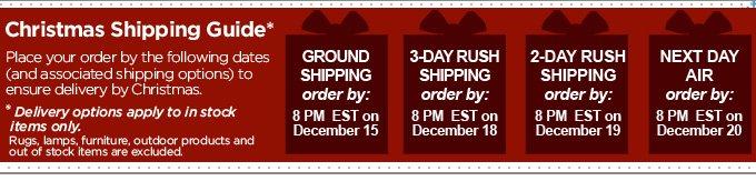 Christmas Shipping Guide