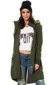 The Abby Tencel Fur Lined Parka in Military Green