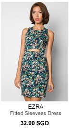 EZRA Cut Out Fitted Sleevess Dress