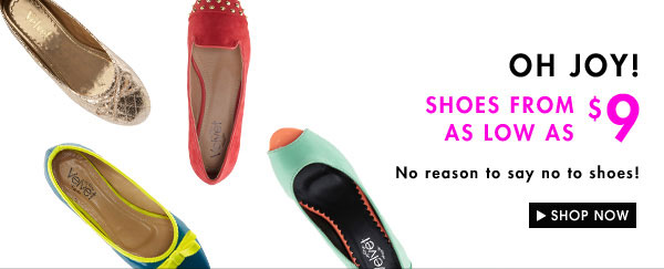 Shoes from as low as $9
