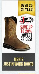 Mens Justin Work Boots