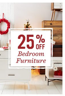 25% off bedroom furniture