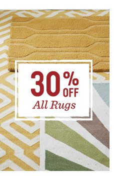 30% off all rugs