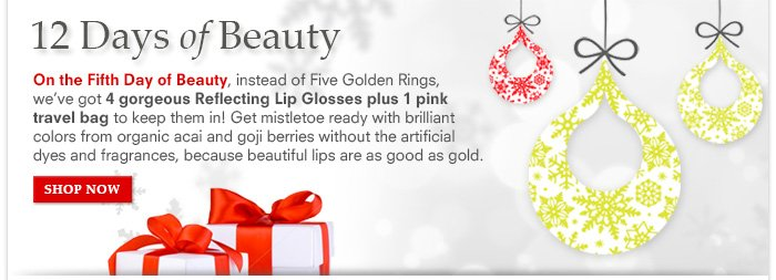 12 Days Of Beauty: Day 5 - Reflecting Gloss Collection - $36 ($60 value)