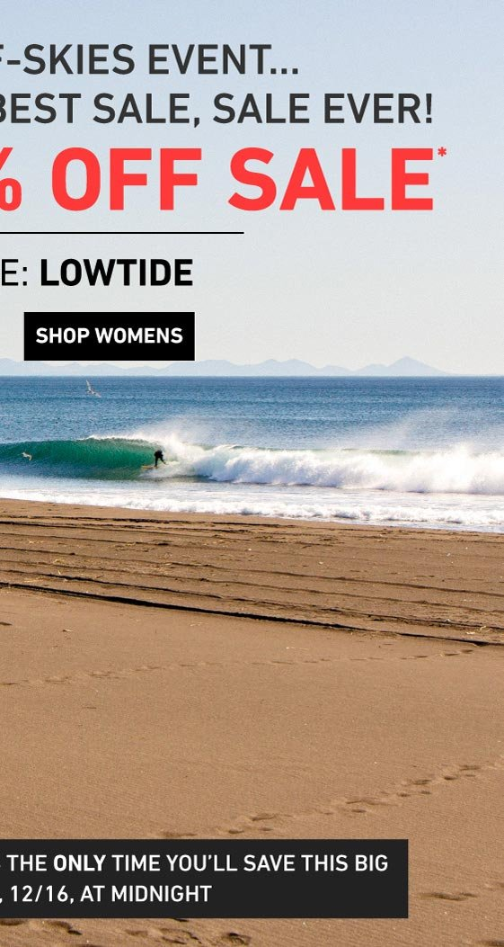 EXTRA 50% OFF MARKDOWNS! Enter Code: LOWTIDE