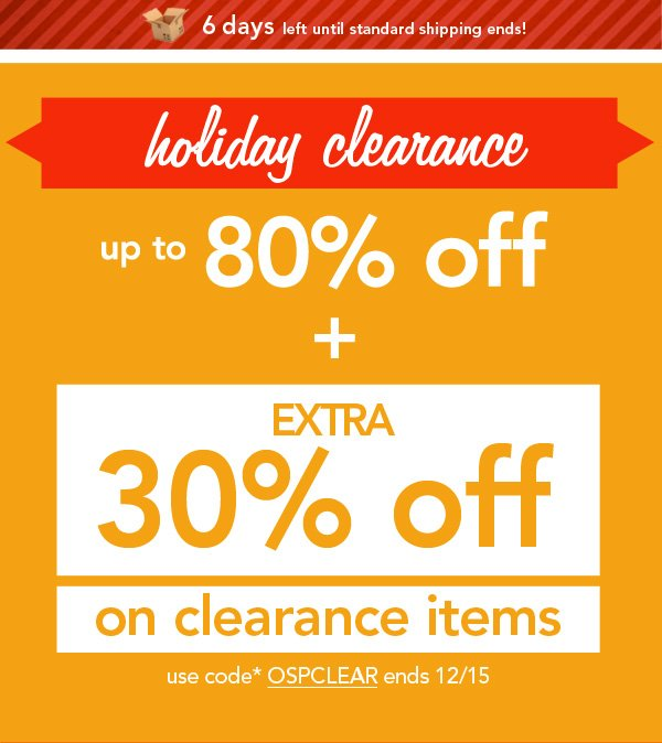 Shop Clearance!