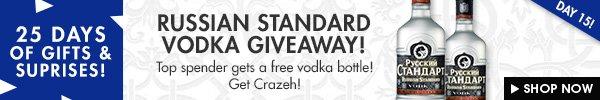 Win a bottle of Russian standard vodka!