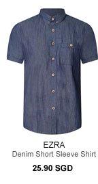 Ezra Denim Short Sleeve Shirt