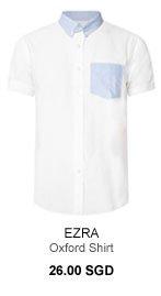 Ezra Contrast Collar Oxford Shirt