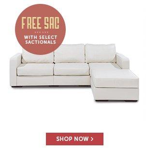 Free Sac with Select Sactionals!