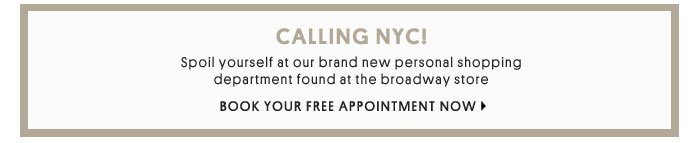 CALLING NYC! - BOOK YOUR FREE APPOINTMENT NOW