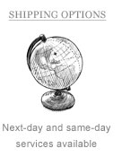 Shipping Options: Next day and same day services available