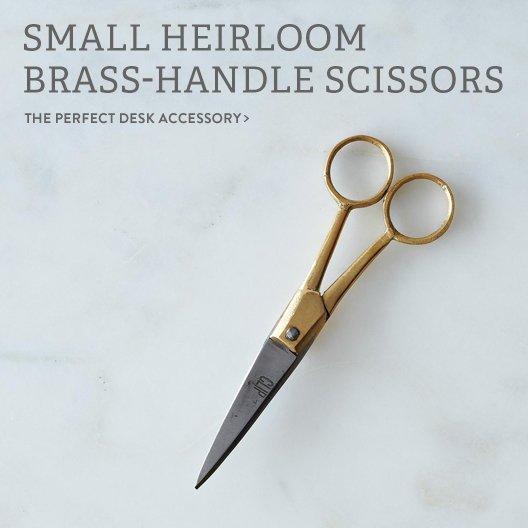 Brass-Handle Scissors