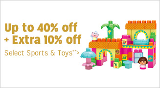 Up to 40% off + Extra 10% off Select Sports & Toys**