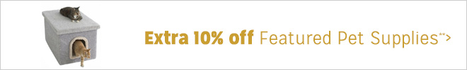 Extra 10% off Featured Pet Supplies**