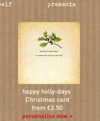 happy holly-days card