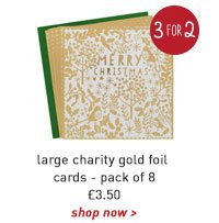 large charity gold foil cards - pack of 8