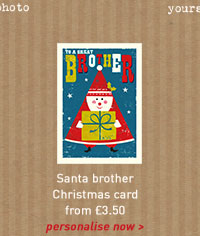 santa brother christmas card