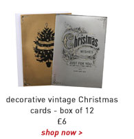 decorative vintage christmas cards -box of 12